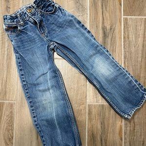 Osh Kosh Boy's Adjust Waist Blue Jeans size 7 Slim